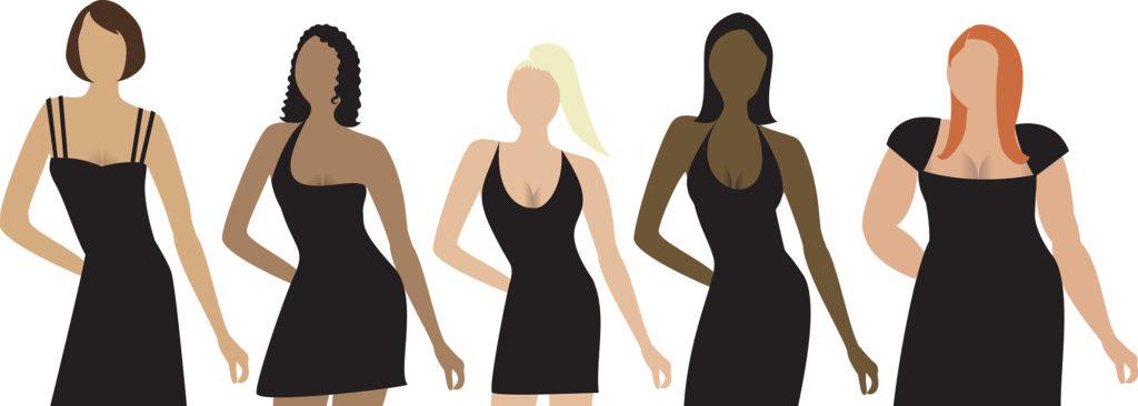 Five women different shapes