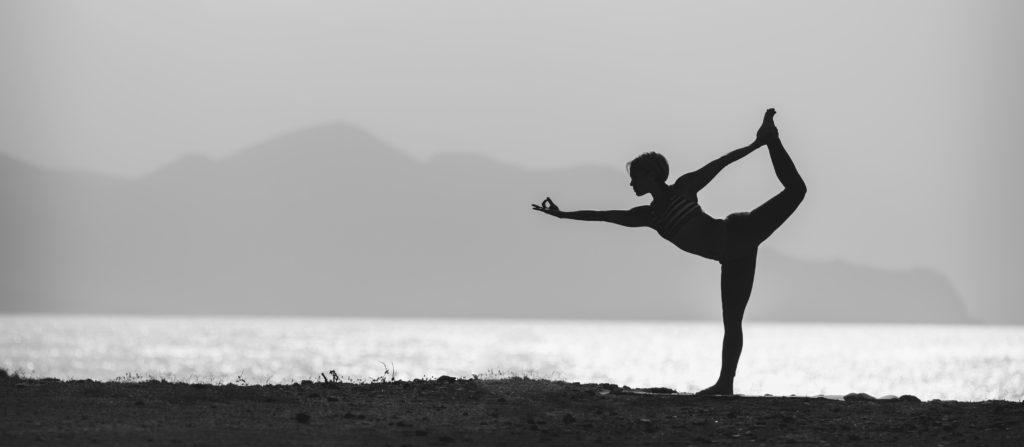 Beach Woman In Yoga Pose